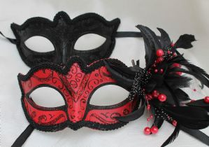 Black Masquerade Masks - His and Hers Masks | Masks and Tiaras